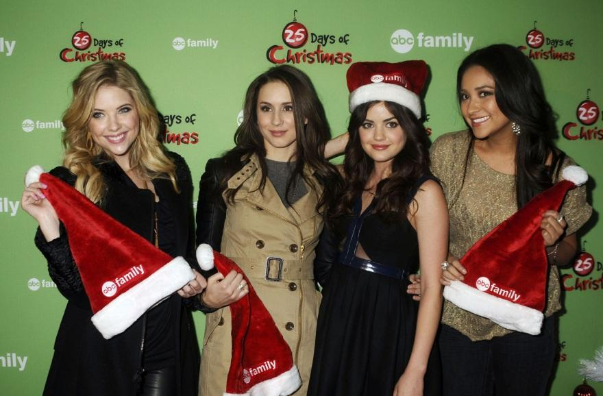Lucy Hale At Abc Family Days Of Christmas Winter Wonderland In New York And Selena Gomez